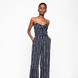 Express Striped Tie Front Jumpsuit